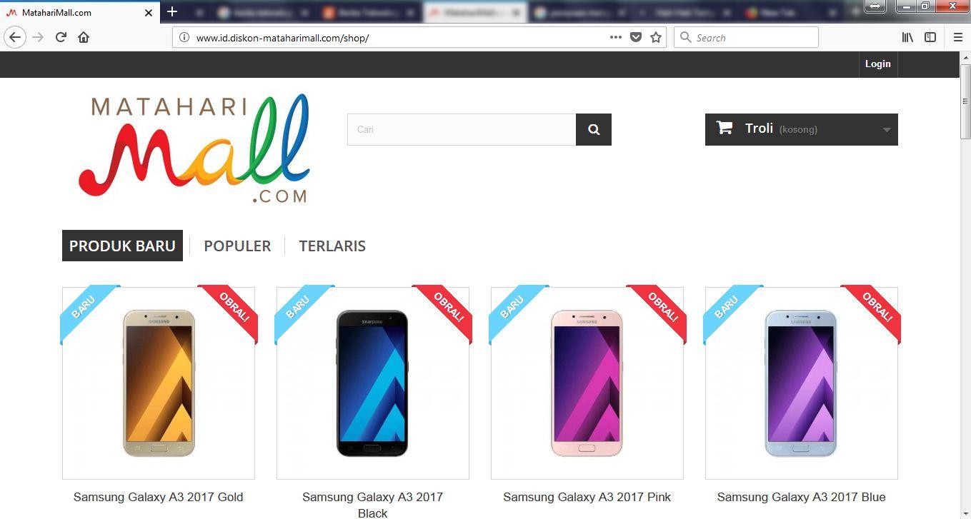 Idtech Media Situs Online Shop Diskon Matahari Mall Palsu